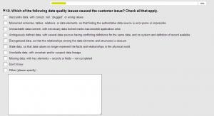 poor data quality survey